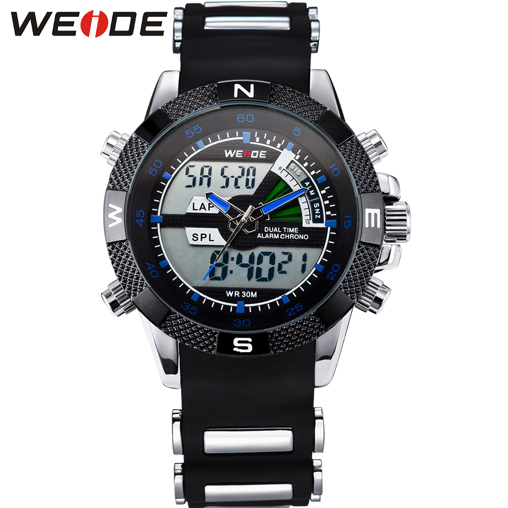 ФОТО WEIDE Water Resistant Watch Sport Men Brand New Mens Quartz Analog Digital Date Alarm Display Luxury Brand Buy Watches Online