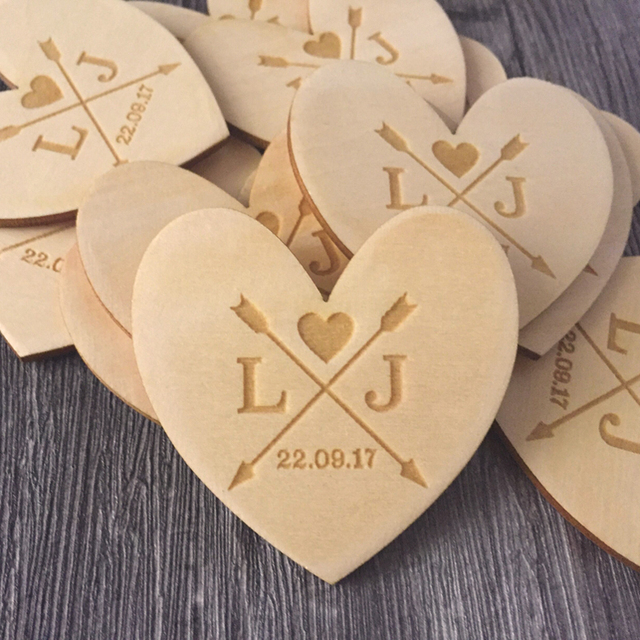 Custom Arrow Magnets With Date And Initials Wood Save The Rustic Wedding