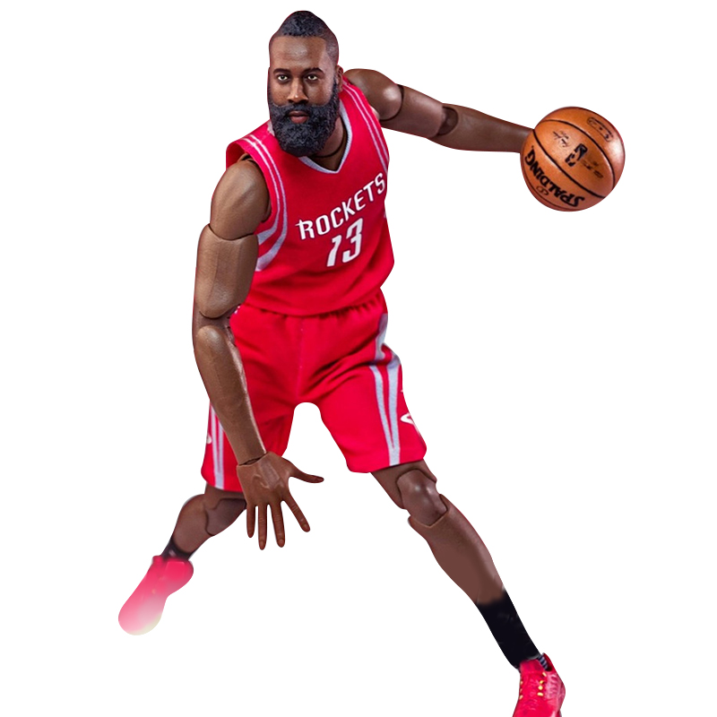 NBA Basketball Star James Harden Action figure 22cm High Model Toys for Sport Basketball Lover Collection for boy children gift фанатская атрибутика other nba exclusive collection logo