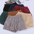 2016 Outwear Verano Elástico de Cintura Alta Mujeres Shorts Shorts Moda Pantalones Cortos Ocasionales Flojos de Pierna Ancha Femenina Multicolor