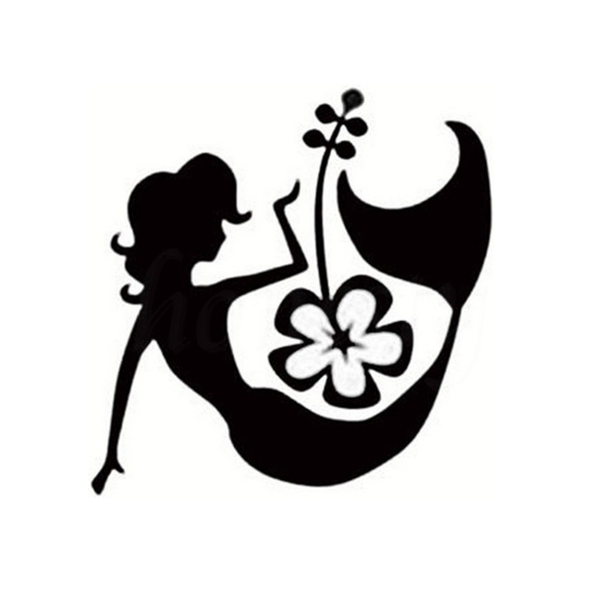 Sexy mermaid hibiscus flower island girl car sticker wall home glass sexy mermaid hibiscus flower island girl car sticker wall home glass window door creative vinyl decal black 115cmx117cm in car stickers from automobiles izmirmasajfo