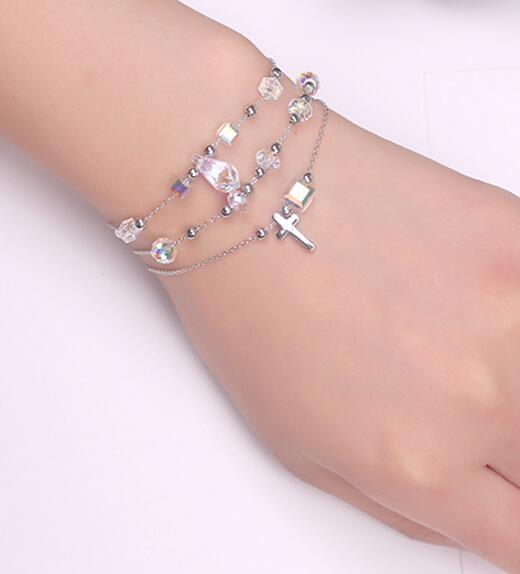 Free shipping 123 11 new on sale 3 circles Women Silver Bracelet hotsale Design Girls New Fashion gift Free shipping