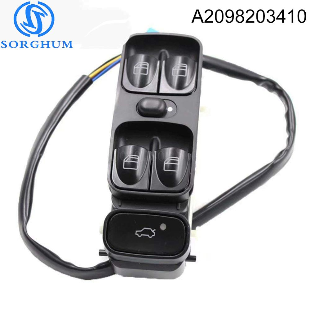 New A2098203410 Power Control Window Switch For <font><b>MERCEDES</b></font> C CLASS W203 C180 C200 C220 A2038200110 2038210679 A2038210679 image