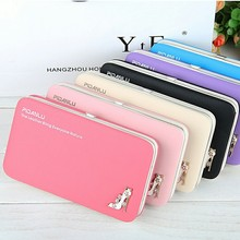 2016 New Fashion Ladies PU Leather Wallets High Quality Women's Bag Famous Band Women Classic Girls Coin Purse Clutch Wallet