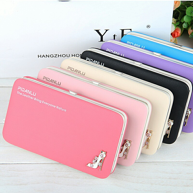 YULYYE New Fashion Ladies PU Leather Wallets High Quality Women's Bag Famous Band Women Classic Girls Coin Purse Clutch Wallet цена