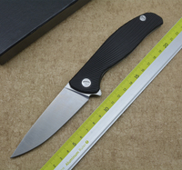 XS Hati 95 Flipper Folding Knife D2 Blade G10 Steel Handle Camping Hunting Outdoor Survival Pocket