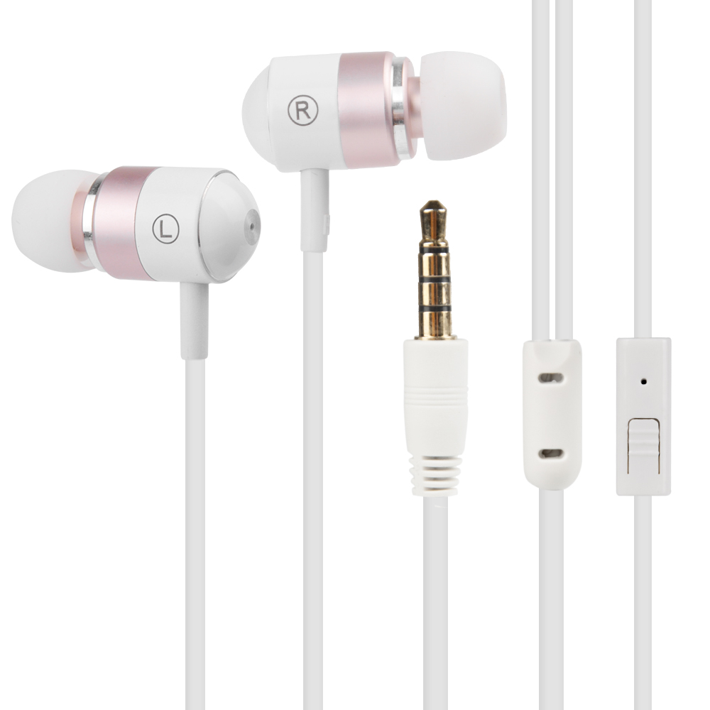 New URBANFUN White Dynamic Unit In-ear Earphone 3.5MM HiFi Bass Noise Cancelling Earbuds