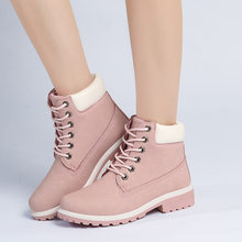 2019 Hot New Autumn Early Winter Shoes Women Flat Heel Boots Fashion Keep warm Women's Boots Brand Woman Ankle Botas Camouflage(China)