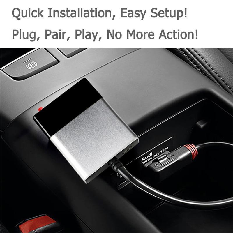 Adaptador Bluetooth Car Aux Módulo Kit Veicular Bluetooth Receptor de Música De Áudio para Audi AMI MDI A6L A8 A5 Q5 Q7 s3 S7 para VW para Benz - 2