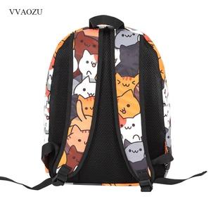 Image 3 - Anime Neko Atsume Ba Lô Nữ Hoạt Hình Mochila cho Bé Gái Bé Trai Du lịch Mèo In Túi dành cho Tuổi Teen