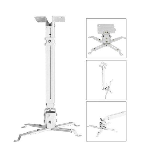 Durável projetor suporte de teto universal led projetor suporte ajustável 43-65cm suporte de suspensão suporte de montagem giratória