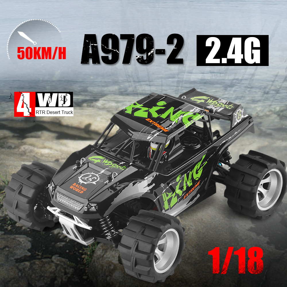цена на Popular toy A979 upgrade RC cars 1:18 4wd 50km/h electric RC vehicle Monster Off-road Vehicle RC car RTR VS 12891 A959-B Kid toy