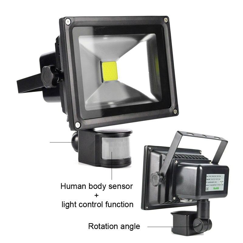 BORUiT 20 Watt LED Solar Lampe PIR Bewegungsmelder Wandleuchte ...
