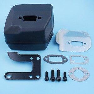 Image 5 - Muffler Exhaust Deflector Bracket Gasket Bolt Kit For Jonsered 625 II 630 Super 670 Champ Chainsaw Replacement Part