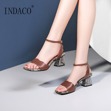 цена на Shoes Woman Sandals Open Toe High Heels Sandals Women 2019 Summer Shoes