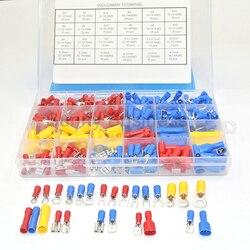 Набор изолированных электрических проводов с 24 значениями, обжимные клеммы, набор вилок #4-1/4 , 373 шт.