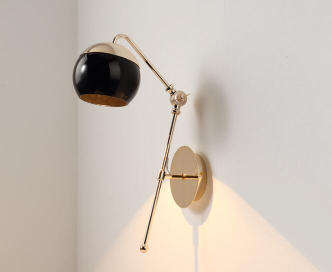 Американский Стиль современный минималистский LED спальня ночники бра ресторан гостиничный номер коридоры творческие лампа WWL143