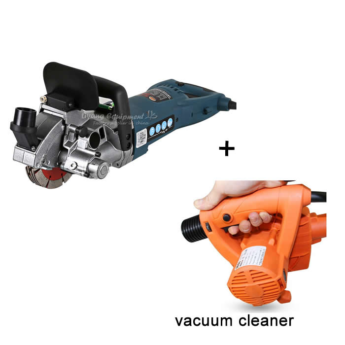 (NO TAX TO Russia )Multifunction Wall Groove Cutting Machine with Slot Vacuum Cleaner Blower no tax to russia