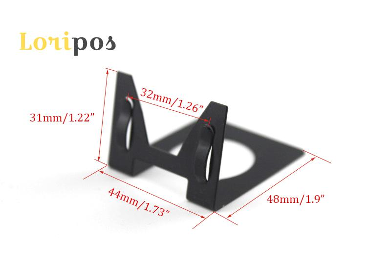 Image 2 - 50 pcs metal label holder desk sign clip table price tag display business name card holder pop photo picture clip-in Furniture Accessories from Furniture