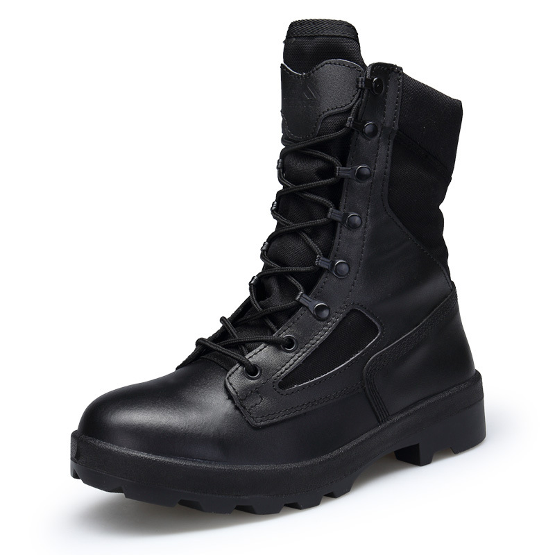 Bottes tactiques pour hommes en peau de vache chaussures d'escalade de randonnée chaussures antidérapantes résistantes à l'usure baskets d'escalade de montagne bottes militaires