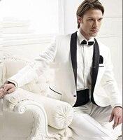 新しいファッションスーツ、男性の白と黒の斑点、男性のタキシード