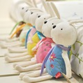 Оптовая продажа 6 шт./лот Игрушки Кролик Автомобилей Завесы Плюшевые игрушки куклы Кролика Банни Свадебные подарки