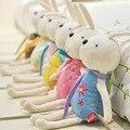 Comercio al por mayor 6 unids/lote Ahorcamientos Coche Conejo de Peluche de Juguete regalos de Boda muñecas de juguete Conejo de Conejito