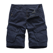 MJARTORIA Navy Mens Cargo Shorts Brand New Army Military Tactical Shorts Men Cotton Loose Work Casual Short Pants Drop Shipping