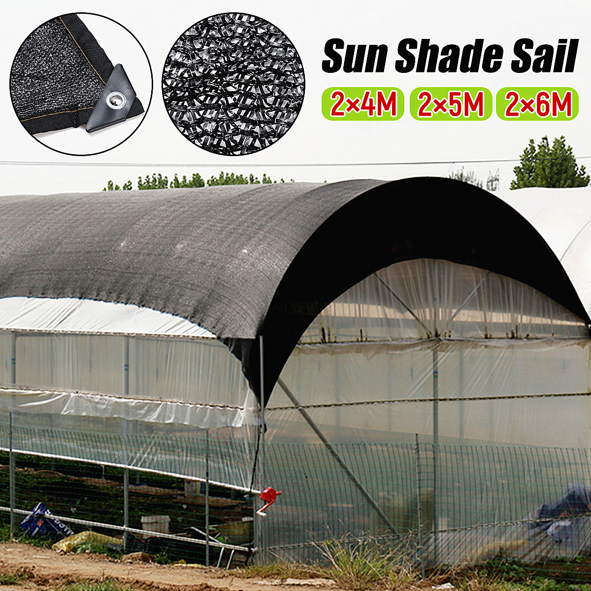 UK Foil Shade Cloth Sail Net Cover Garden Plant Flower 50/% Protection