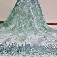 Fashion Style African Lace Fabric High Quality Nigerian Lace Fabric With Sequins French Lace Fabric HX1074 1