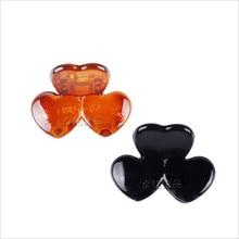 9405 hot sale Japan design heart hair claws  Brown Black Plastic Mini Hairpin Claws Hair Clip Clamp For Women 2.6*1.7 12pcs/lot