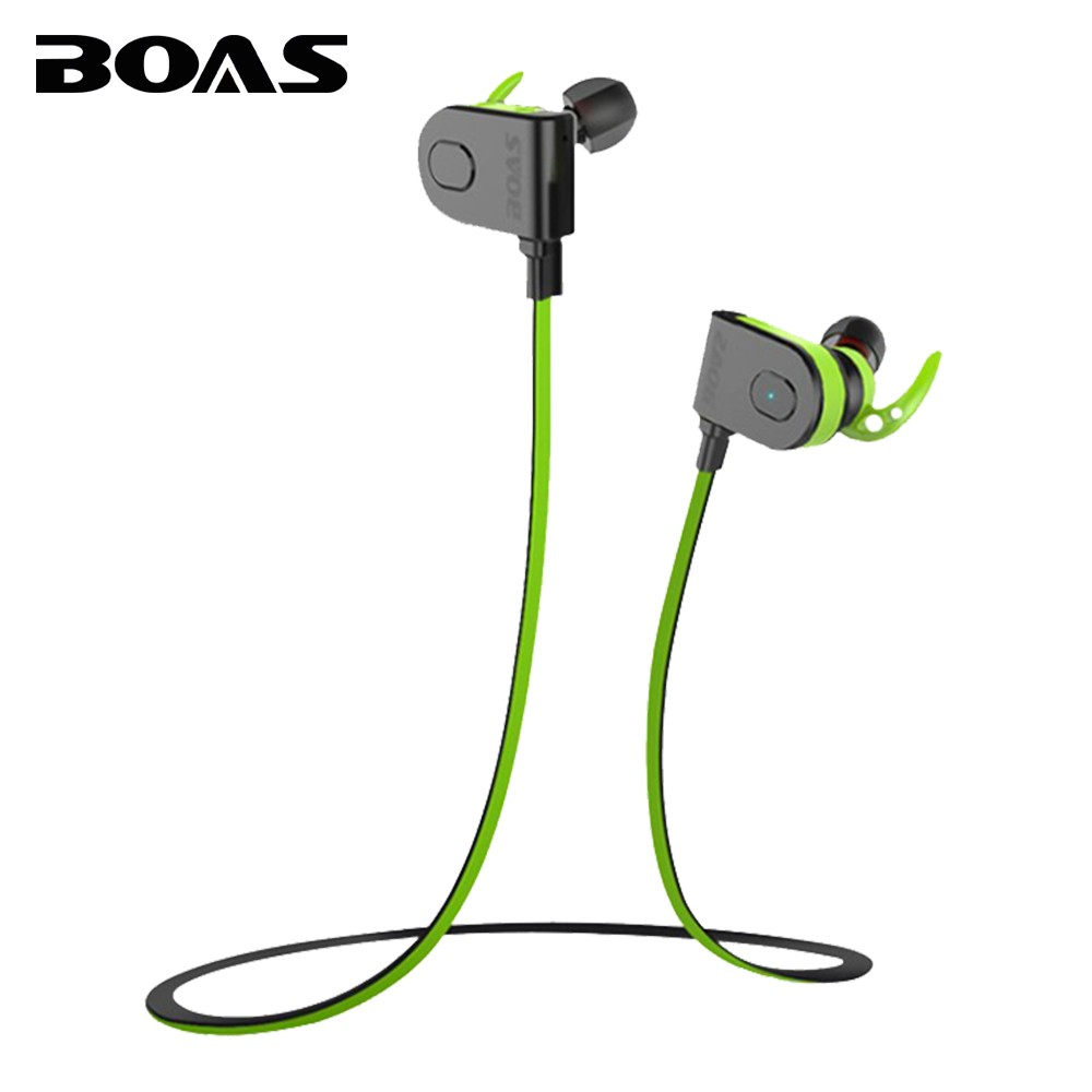 BOAS headset waterproof in ear headphone wireless microphone stereo sport running bluetooth4 1 earphones magnetic for