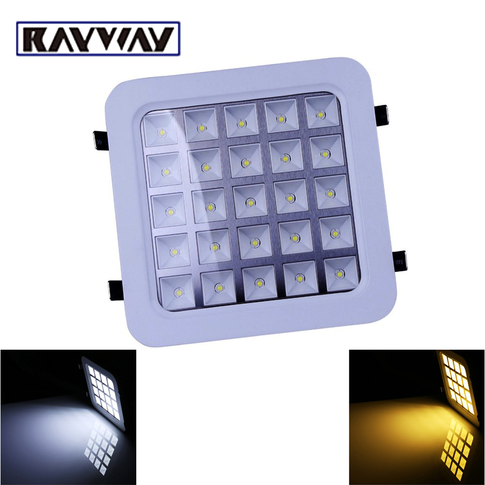 Ceiling Lights & Fans Ceiling Lights 9w High Power 9 Led Recessed Ceiling Down Cabinet Light Fixture Downlight Bulb Lamp Square Grid Grille Kitchen Store 110v-220v