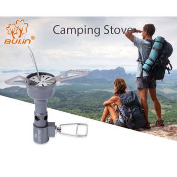 BULin BL100-10T Mini One-Piece Gas Stove Ultralight Portable Titanium Alloy Stove Cooking Outdoor Camping Hiking Picnic Burners 1