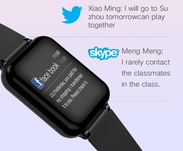 B57 smart watch waterproof heart rate monitor blood pressure  sport Women smartwatch women wearable watch men smart clock PK Q9 3