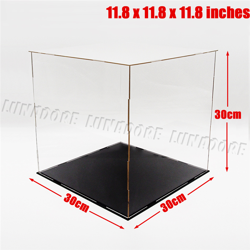 odoria ship from usa acrylic assembly display case 118inch cube dustproof showcase for football basketball
