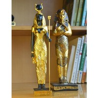 Egypt Pharaoh Decorative Figurines Egyptian Goddess Statue Craft Christmas Home Decoration Pyramid Resin Craft Gifts R268