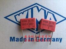 2019 hot sale 10pcs/20pcs German capacitor WIMA MKS4 0.15UF 400V 154 150n P: 15mm Audio free shipping