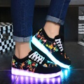 Tamanho 25-37 carregamento usb led crianças shoes crianças com light up luminous glowing shoes for boys & girls sneakers esporte running shoes