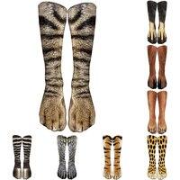 Интересные леопардовые тигровые хлопковые носки для женщин 1