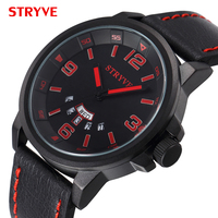 Big Discount Sales Genuine Leather Band Big Dial Watches Men Fashion Tada Brand Watches Male Double