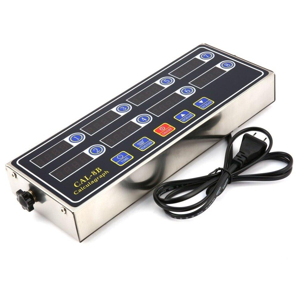 CAL-8B Portable Calculagraph 8 canaux minuterie numérique cuisine cuisson chronométrage LCD affichage horloge secouant rappel