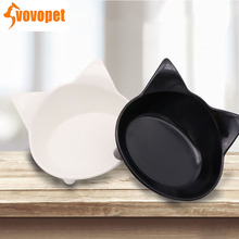 VOVOPET Pet Feeder Cat Bowl  Shallow Cute anti-slip plastic Feeding and drinking dogs cats Supplies