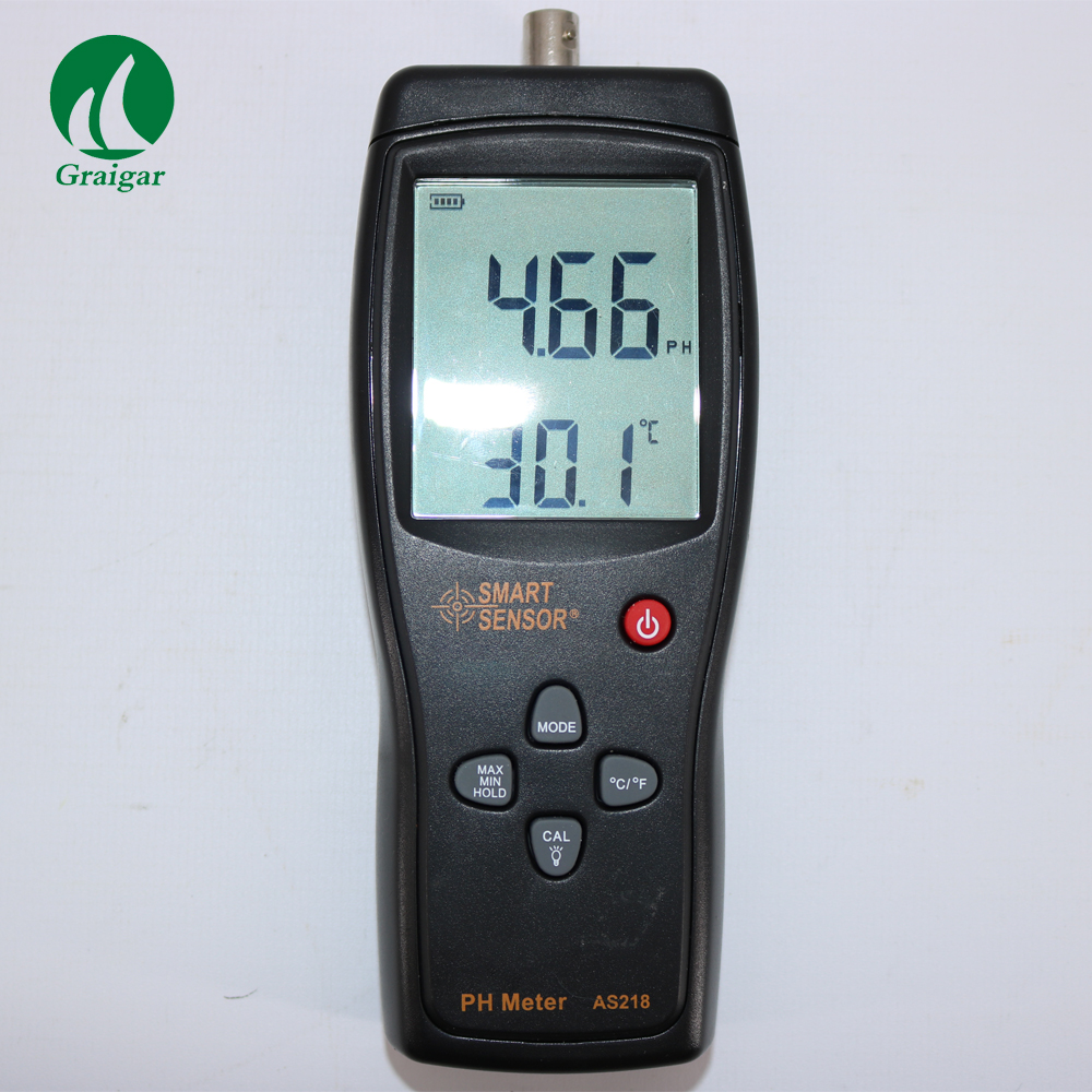 Handheld PH Meter AS218 Measuring Range 0.00~14.00pH Moisture Measuring Instrument Soil Tester Acidity Meter 4 8 days arrival lb92t portable sweetness tester brix meter with measuring range 58 92