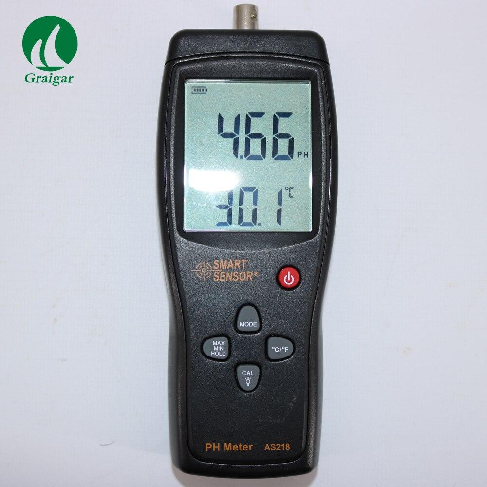 Handheld PH Meter AS218 Campo di Misura 0.00 ~ 14.00pH di Umidità Strumento di Misura Tester Del Suolo Acidità Metro