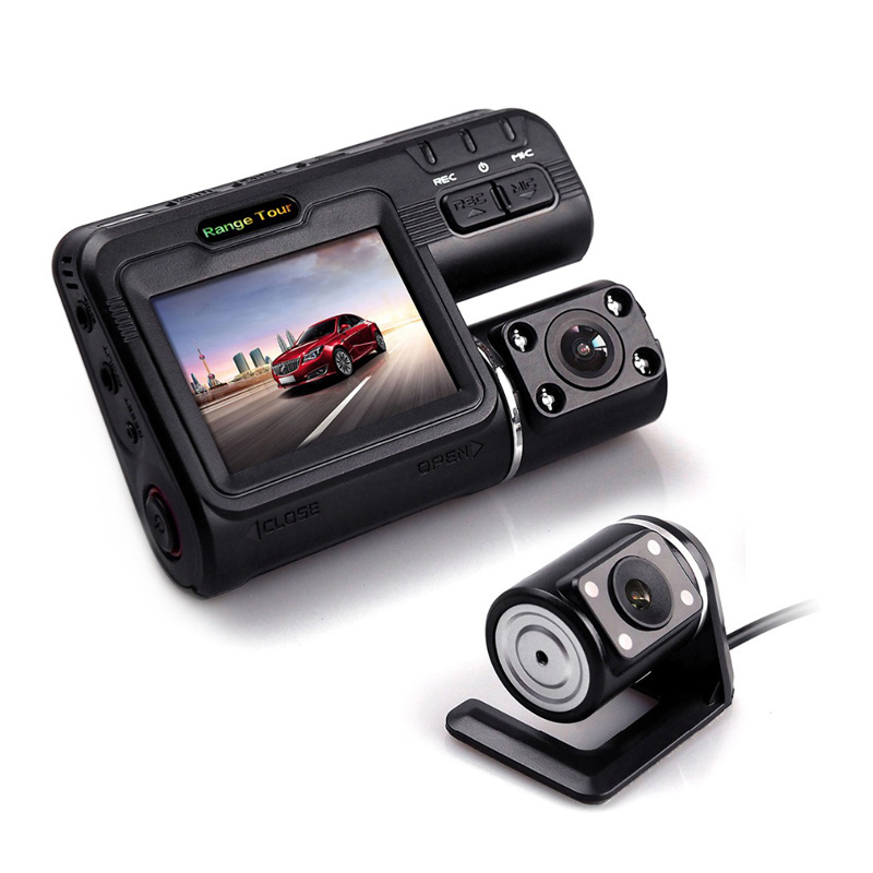 DVR I1000 Camcorder Dash-Cam Dual-Lens Night-Vision Full-Hd 1080P 2