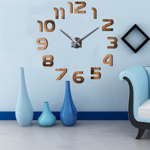 Large 3D Luminous Wall Clock Rushed Acrylic Mirror Wall Sticker Diy Living Room Home Decor Fashion Watches Quartz Wall Clocks B4 все цены