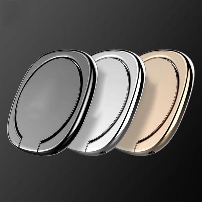 Universal Square Metal Ring Mobile Phone Holder Black 360° Rotating Ring Buckle Mobile Phone Holder For Samsung Huawei Xiaomi Ip