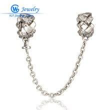 2016 Nueva Cadena de Seguridad 925 Joyería de Plata Esterlina Para la Pulsera DIY Jewelry Making Gw Fine Jewelry A009