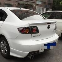 use for mazda 3 spoiler 2006 2013 mazda 3 spoiler High Quality ABS Material Car Rear Wing Primer Color for mazda 3 2006 2013